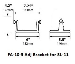 SL-11 Adjustable aiming bracket