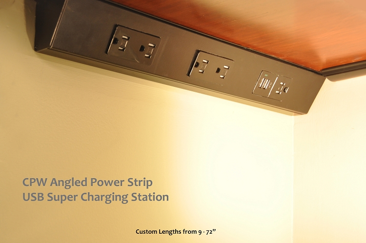 Are USB chargers available in Angled Power Strips?