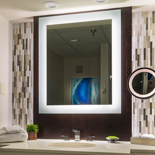 Silhouette LED Lighted Mirror