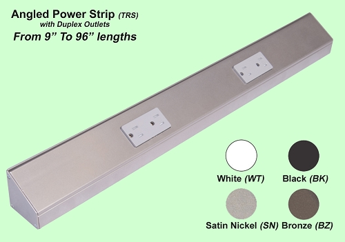 Angled Power Strip (Duplex Receptacle)