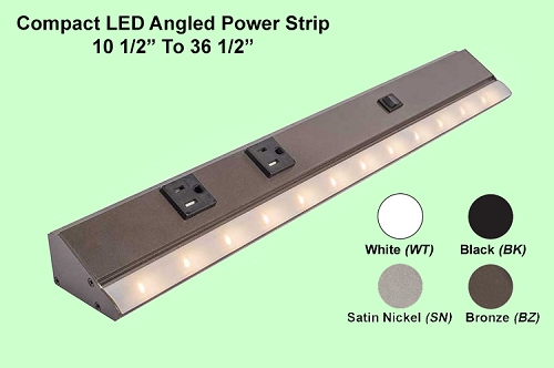 Angled Power Strip (with LED Lighting)