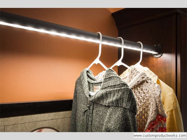 LED Lighted Closet Rod