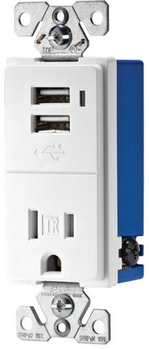 USB Charger/Tamper Resistant Outlet